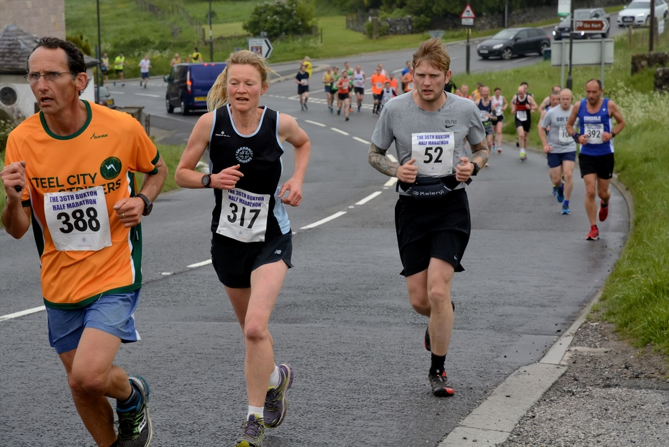 Heather Carter at the Buxton Half Marahon