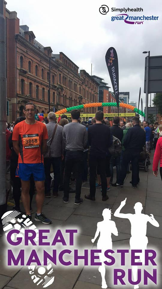 John Pemberton at the Simplyhealth Manchester 10k