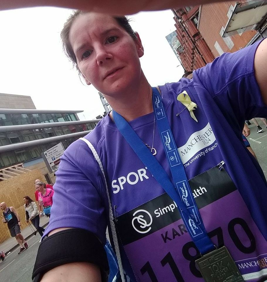 Karen Wright at the Simplyhealth Manchester 10k