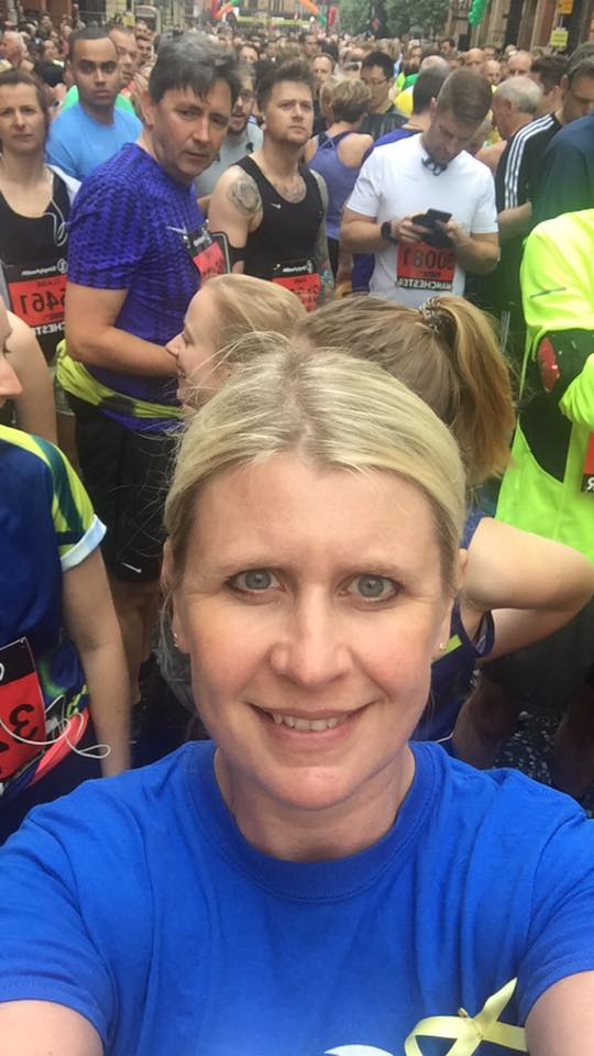 Louise Lewis at the Manchester Half