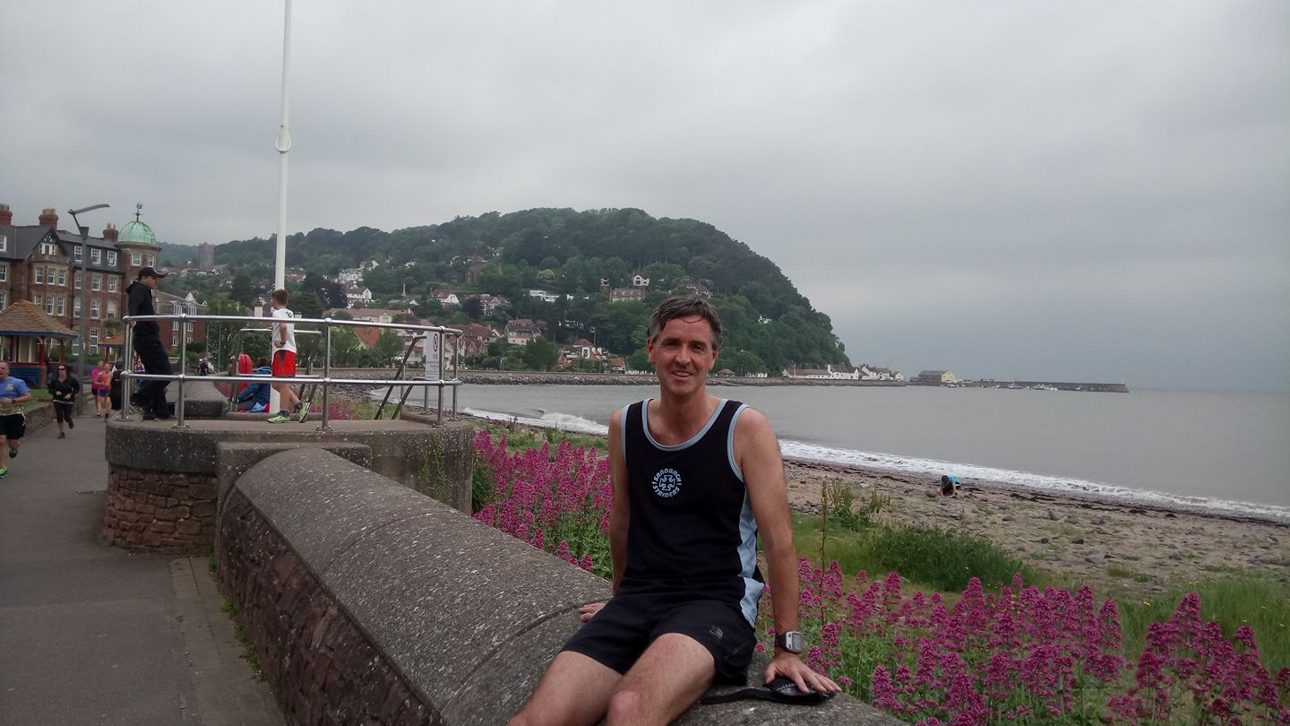 Martin Coleman at the Minehead parkrun