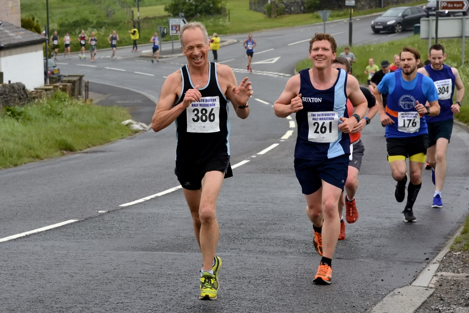 Tony Taylor at the Buxton Half Marahon