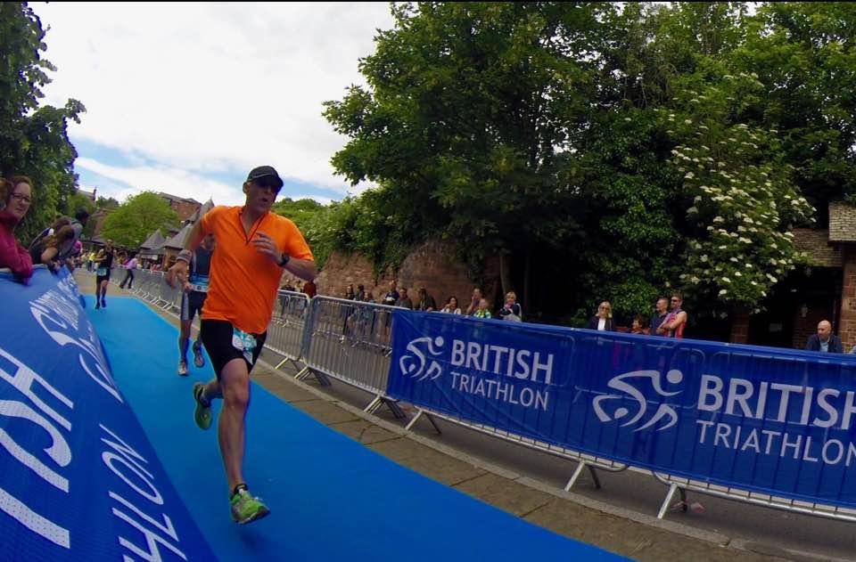 Gordon Hutchins at the Chester Deva Triathlon