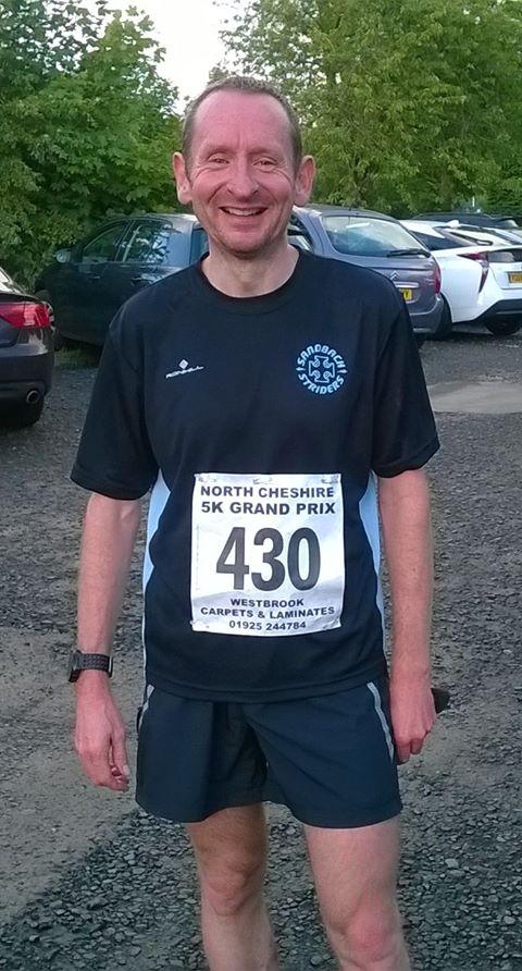 Andy Thomas at the Bowdon 5k Race