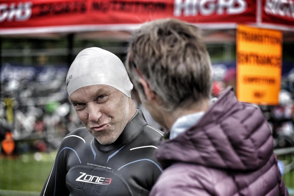 Gordon Hutchins at the Ultimate Half Triathlon