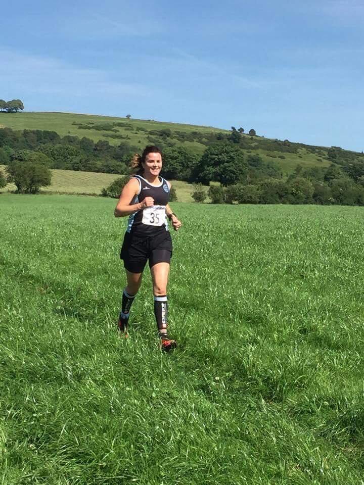 Lynsey Astles at the Bosley Fell Race