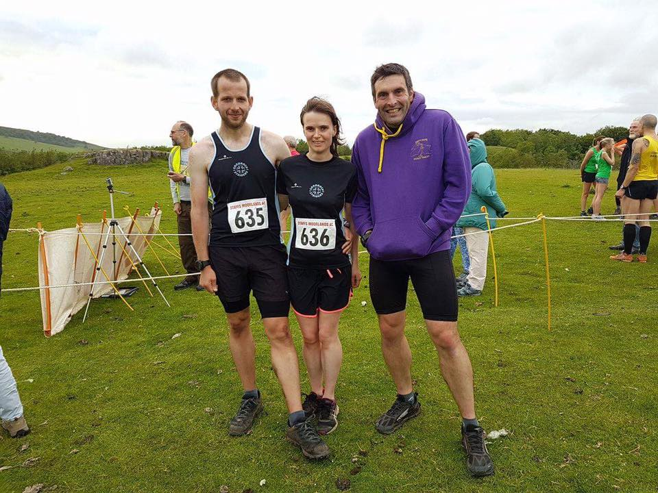 Steve Mclean, Lisa Highfield and Craig Edwards at the Buxton Hilly
