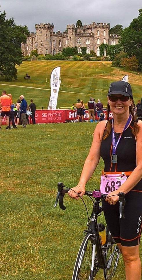 Tracey Surridge at the Cholmondeley Triathlon