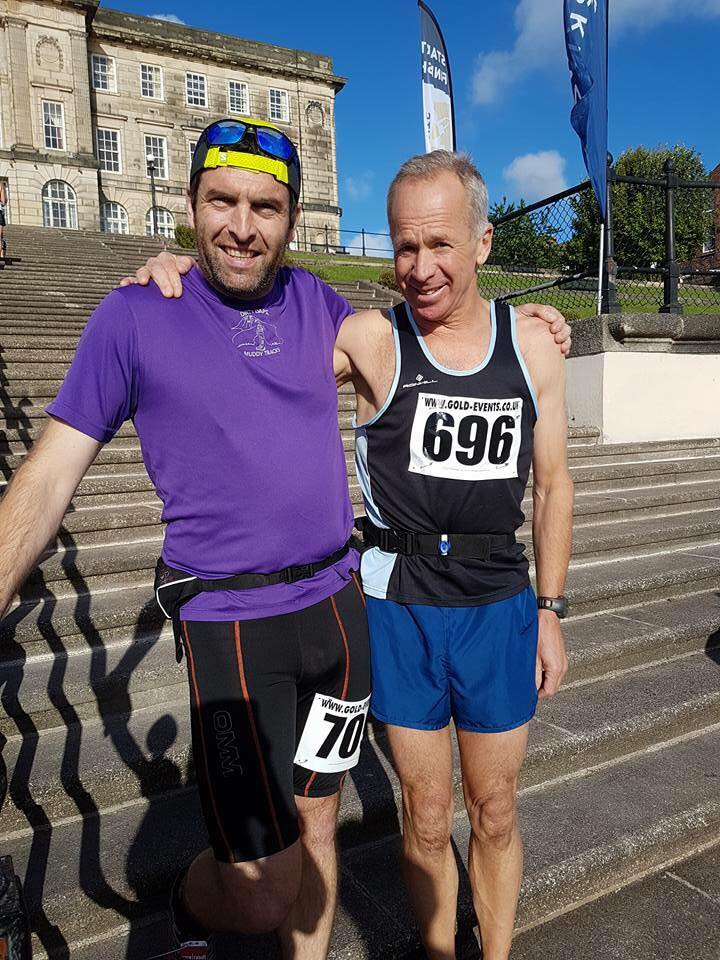 Craig Edwards and Tony Taylor at the Wirrall Ultra