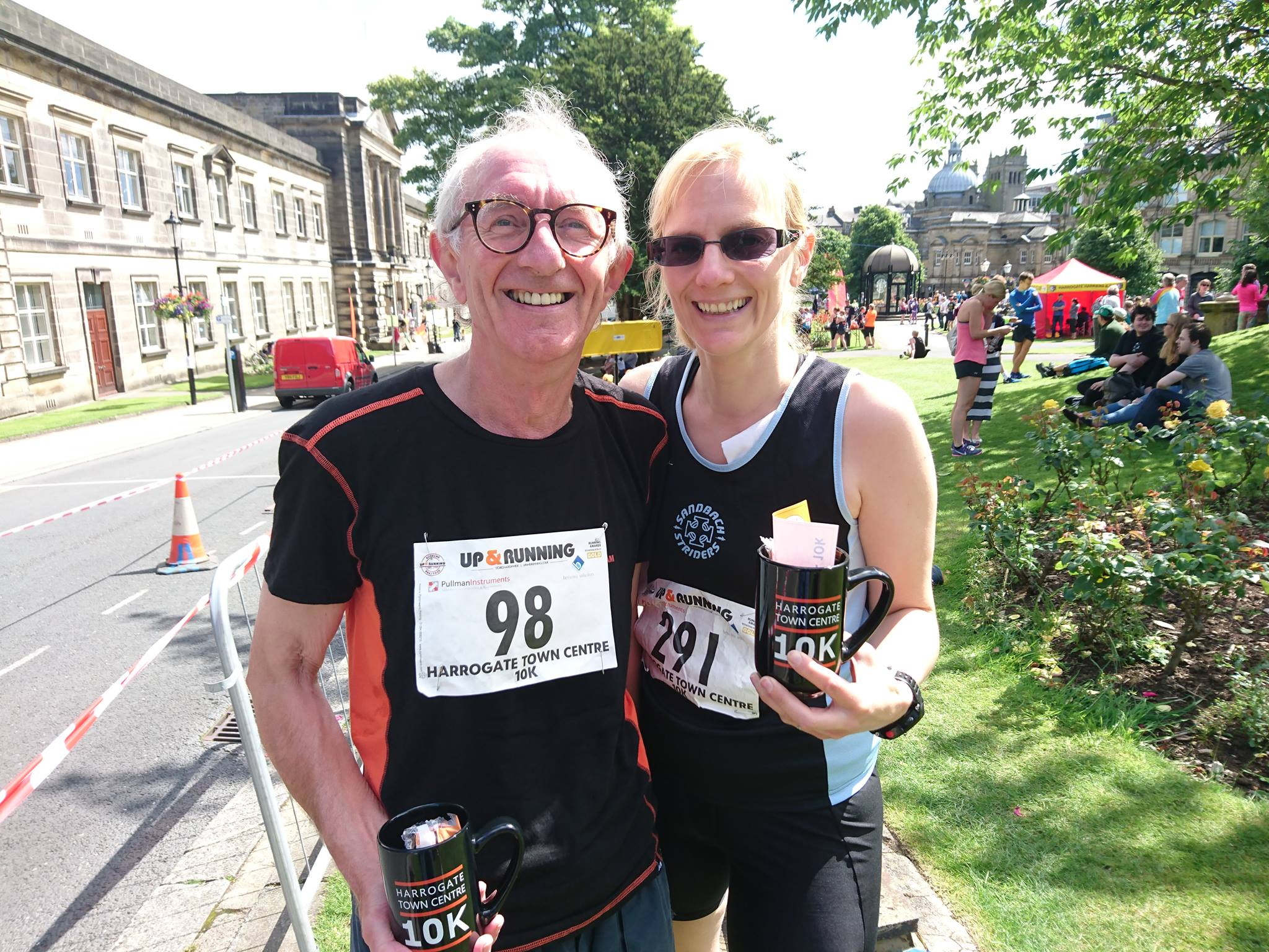 Lucy Lee and her father at the Harrogate 10k