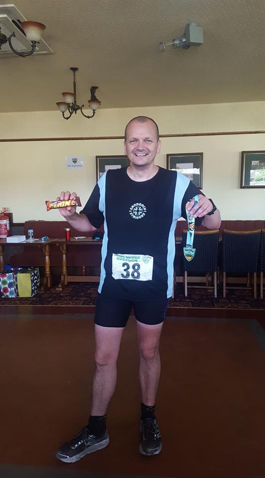 Paul Nicholls at the Lions Bridge Trail Marathon