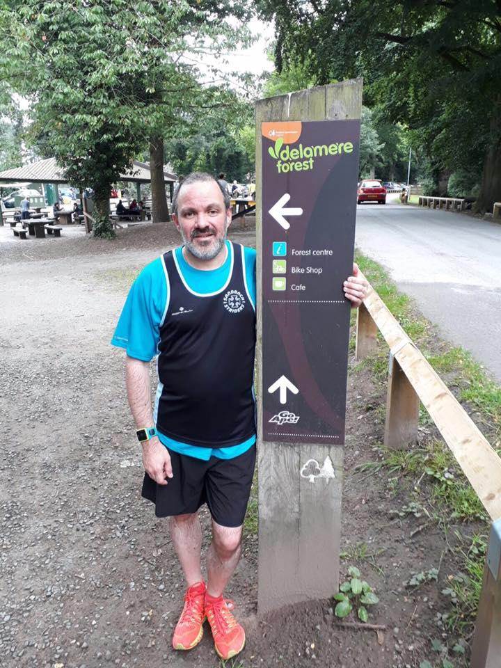 James Boon at Delamere parkrun