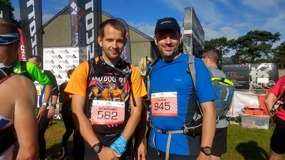 Steve Mclean and Chris Brumby at the Snowdonia Trail Marathon