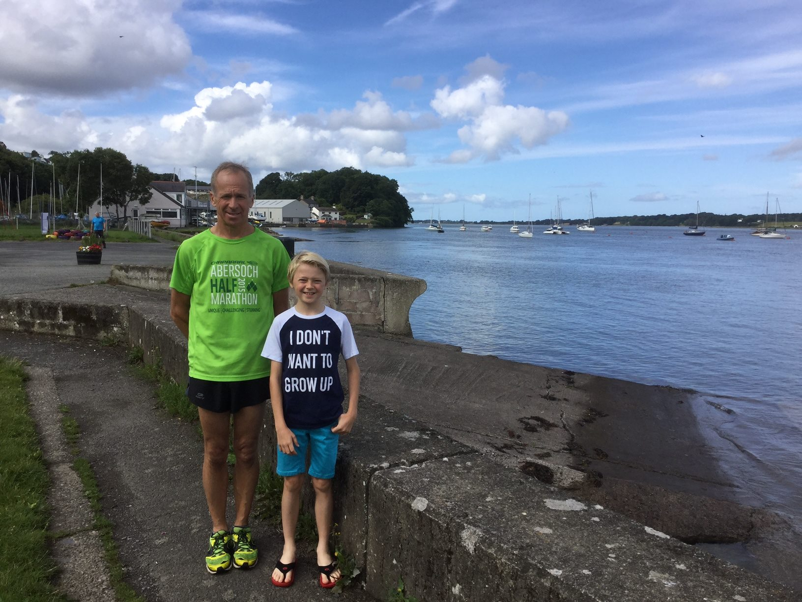 Tony Taylor and Son at Conwy parkrun